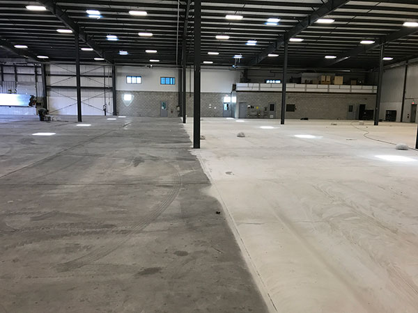 Epoxy warehouse flooring, Hamilton, Ontario