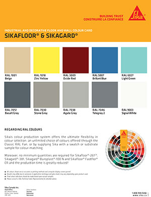 Sika Color Chart